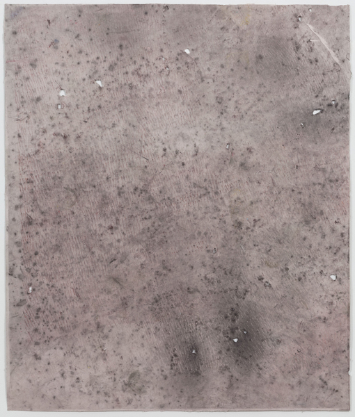 JESSICA DICKINSON traces  graphite and pastel on paper with holes