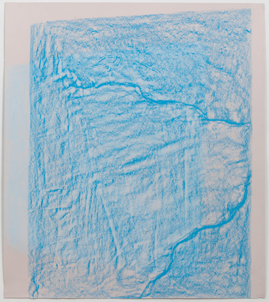 JESSICA DICKINSON traces pastel and wax oil pastel on paper