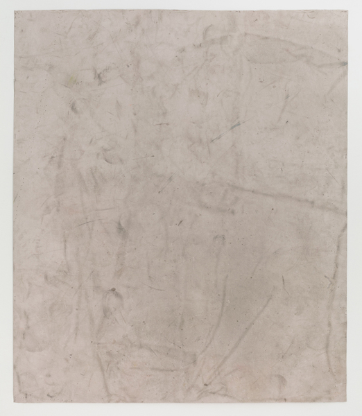JESSICA DICKINSON traces dust and pastel on paper with holes