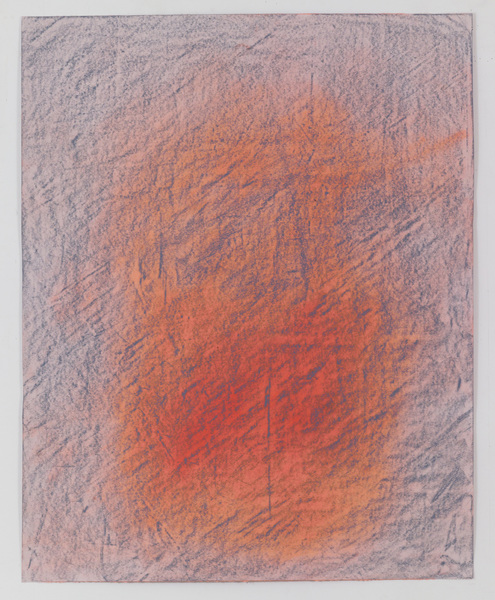 JESSICA DICKINSON traces wax oil pastel and pastel on paper