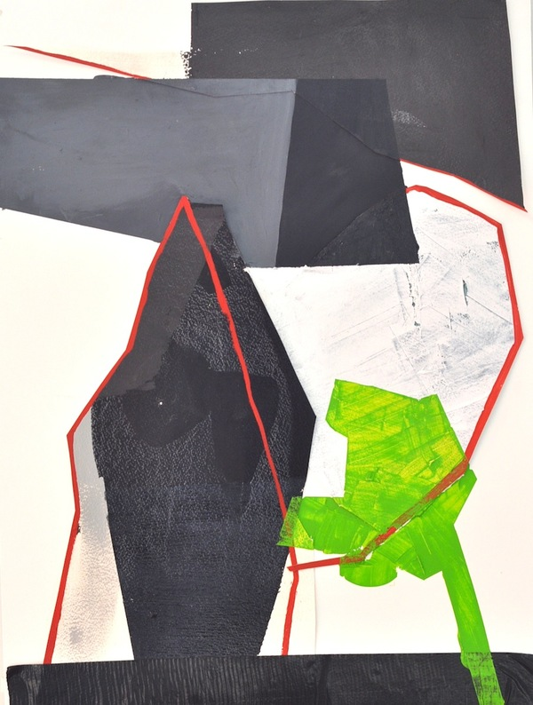 Jodi Hays 2014 oil and collage on paper
