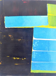 Jodi Hays  ink and oil on canvas over panel<br/>
