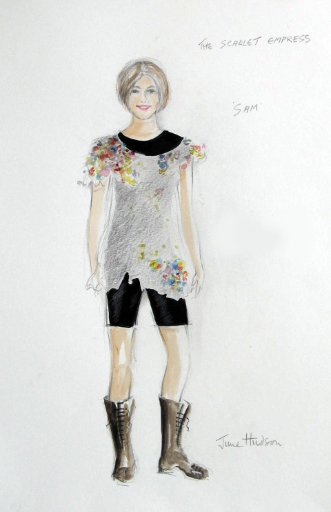 June Hudson Recent Designs Pencil crayon &amp; gouache on hot press watercolour paper