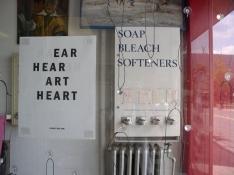 Kathleen Anderson Public Space Ear, Hear, Art, Heart, Soap, Bleach, Softeners