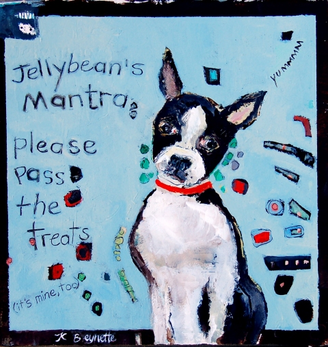 kathy beynette jellybean acrylic  on canvas