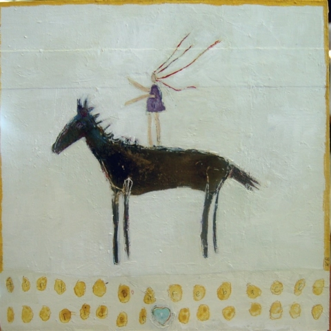 kathy beynette friends mixed media on board