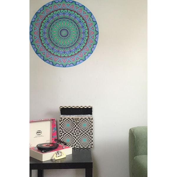 Mandala Nouveau Vinyl Fabric
