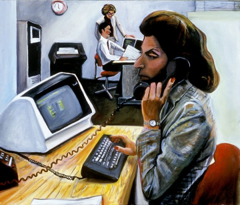 K I M B E R L Y   R E I N H A R D T Office Paintings  Oil on Canvas