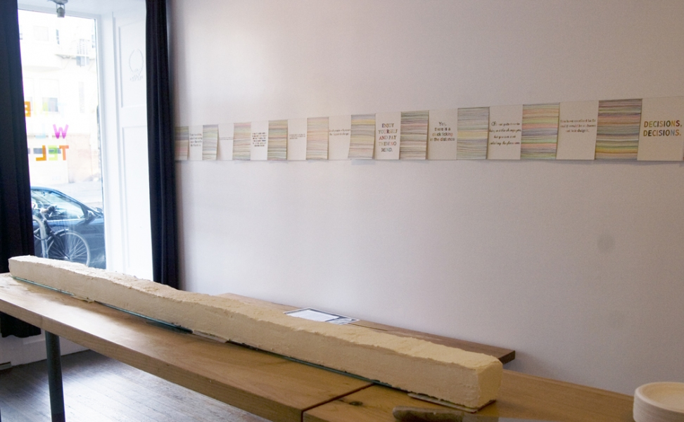 TIME WILL TELL at 18 Reasons time will tell (installation view)