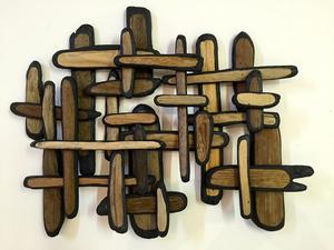 sculpture/installation Acrylic/Driftwood