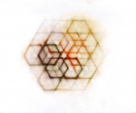 "Luisa Sartori go to ""Circles, triangles and then..."" images graphite, oil pastels on tracing paper"