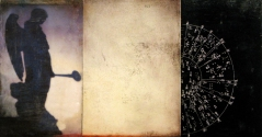 """Luisa Sartori go to """"Here-There / High-Low"""" images mixed media on wood"""