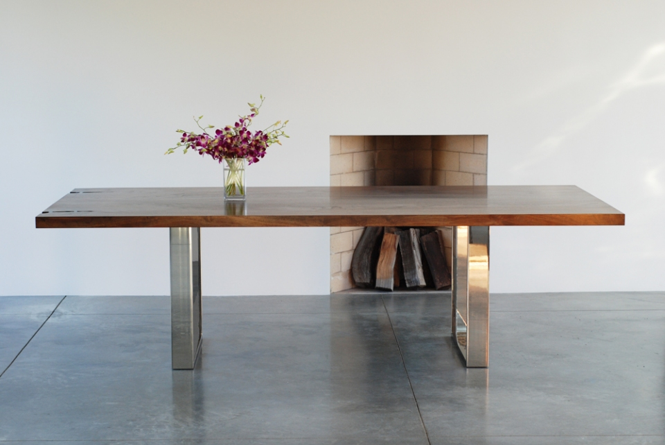 Wood Dining Table - Square Base