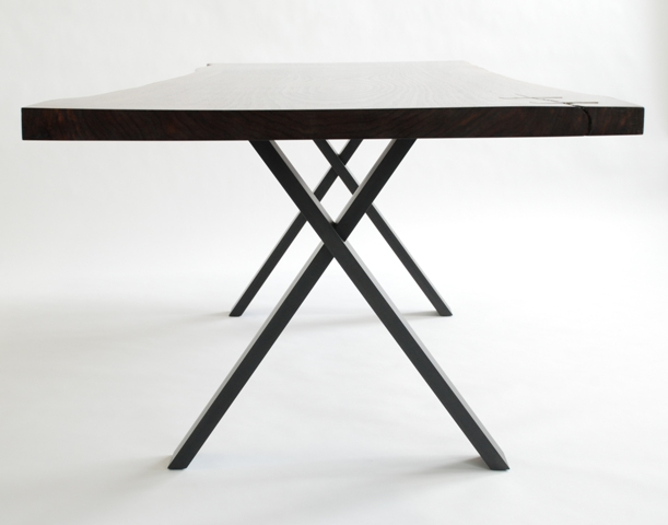 Dining Table Dining Table - X Base - Black Steel