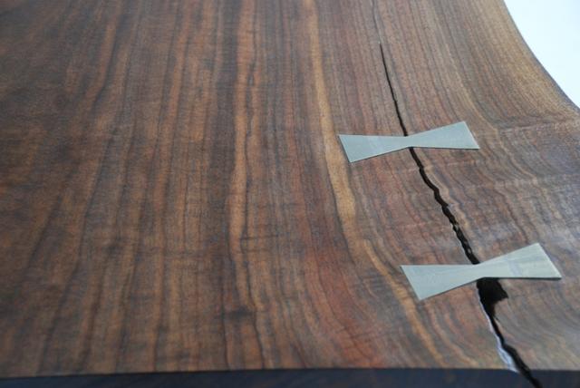 Wood Stainless Steel Bowties
