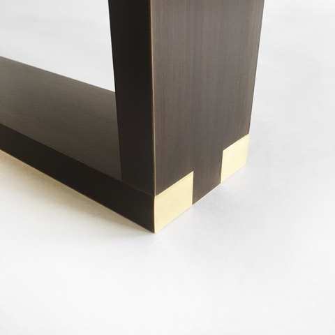 Dining Table Bronze Square Base