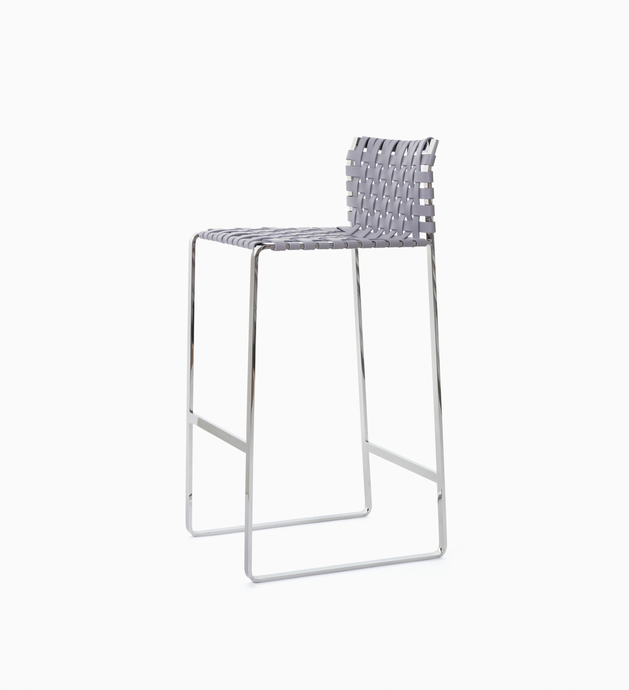 Stool Low Woven Back Bar Stool