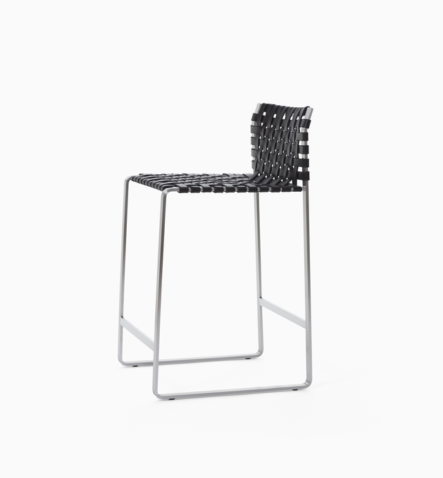 Stool Low Woven Back Counter Stool