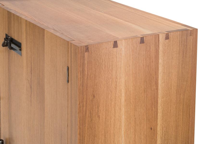 Hardwood Credenza White Oak Credenza - Dovetails