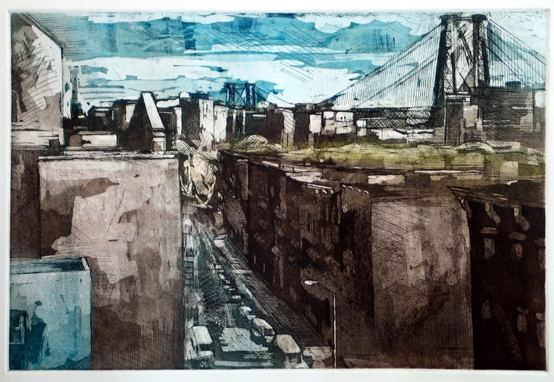 Martha Hayden Etchings color etching and acquatint