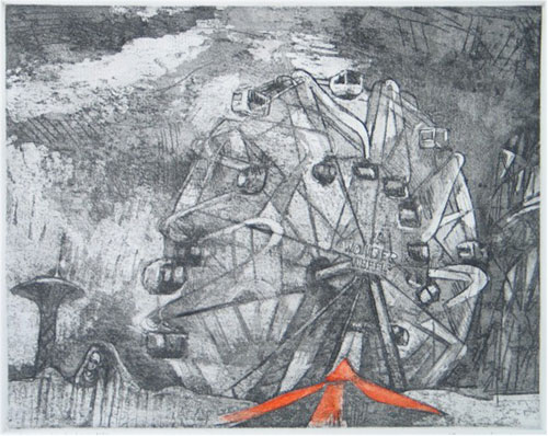 Martha Hayden Etchings etching and acquatint