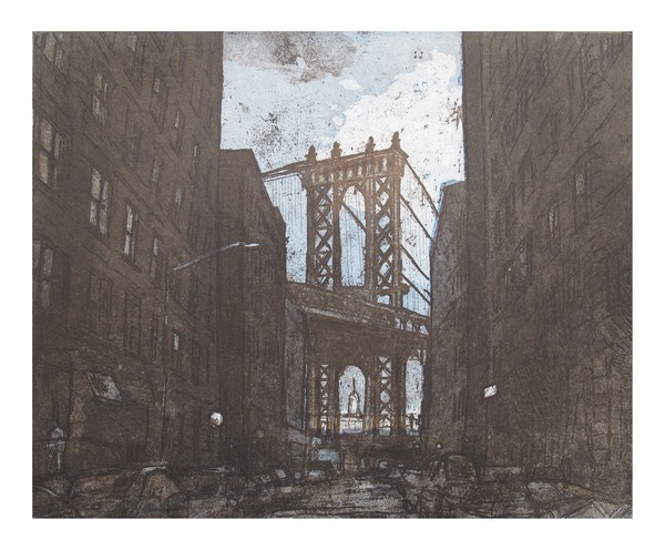 Martha Hayden Etchings 2 plate, color, etching and acquatint