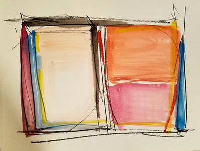 Melinda Zox  Works on paper 2012-2018  Watercolor, pencil ,Cold press paper
