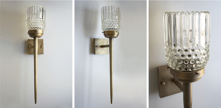 ANTIQUE BRASS WALL SCONCE, 2015<br/>