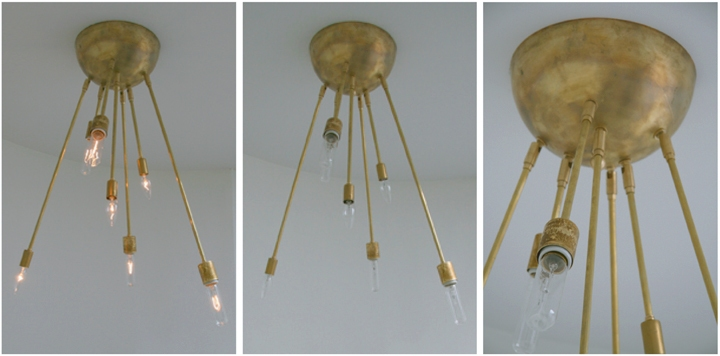 AXIS 7 ARM FIXTURE (NATURAL BRASS FINISH), 2010<br/>