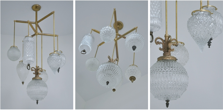 BRILLIANT 7 GLOBE FIXTURE (NATURAL BRASS FINISH), 2011<br/>