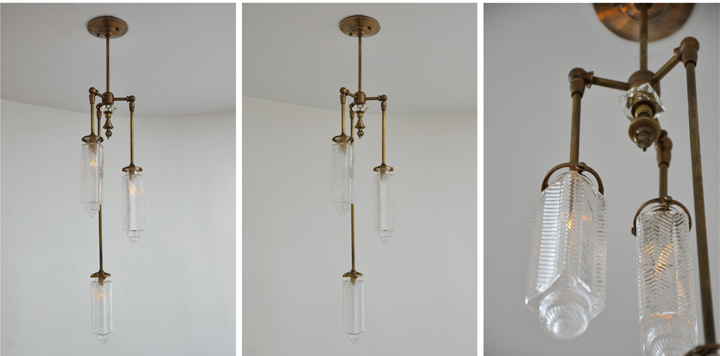TALL CHRYSLER PENDANT (ANTIQUE BRASS FINISH), 2012<br/>