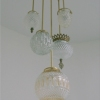 Michelle James NYC  <br/>MATERIALS:  5 repurposed vintage glass globes, brass, UL listed electrical components<br/>
