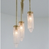 Michelle James NYC  <br/>MATERIALS:  3 repurposed vintage glass reading lamp globes, brass, UL listed electrical components<br/>