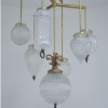 Michelle James NYC  <br/>MATERIALS:  7 repurposed vintage glass globes, brass, UL listed electrical components<br/>