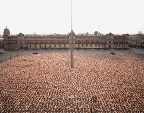 SPENCER TUNICK  urban c-print mounted between plexi