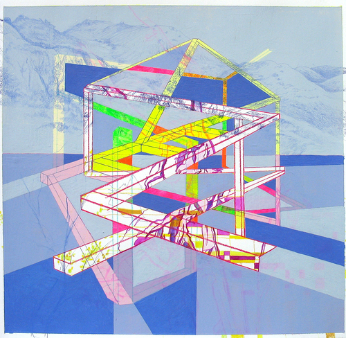 Drawings Study (Blue Structure)