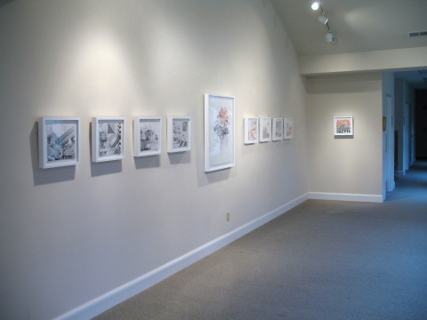 """Alternating Realities,"" Rawls Museum, 2010 Drawings (installation shot)"
