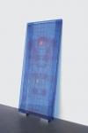 Sculpture  CNC Routed plexiglas, printed fabric, aluminum