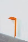 Sculpture  cast plastic, printed fabric, aluminum, flashe paint