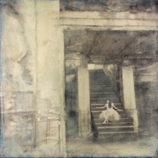 Perspective Group and Photography Gallery Katsy Johnson photograph, encaustic wax, oil