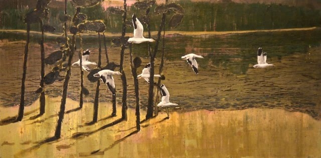  paintings group of seven (geese)