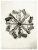 Rosemarie Fiore  graphite rubbing on Japanese silk tissue paper