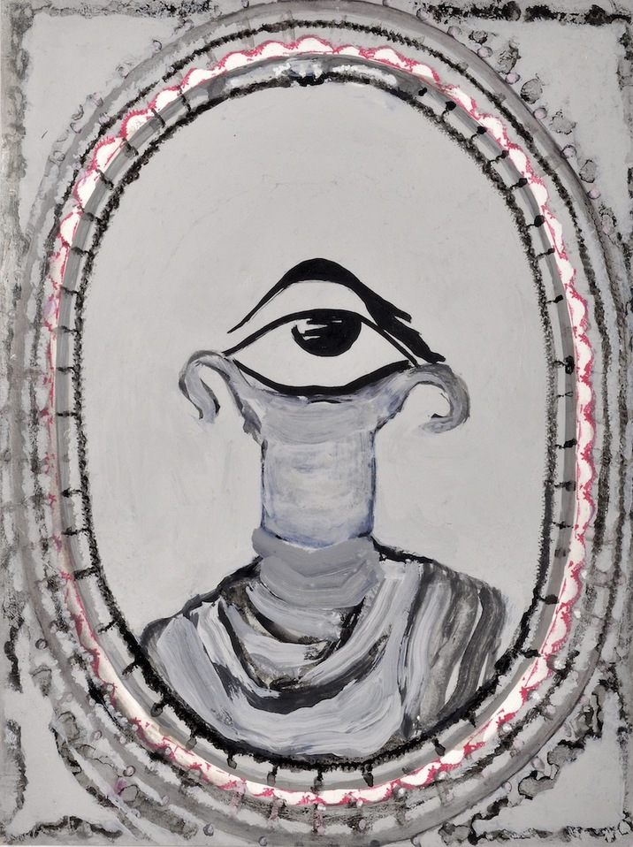 """A Mirror Has Two Faces"" (series) paintings on paper 2009-2013 The Eye Listens"