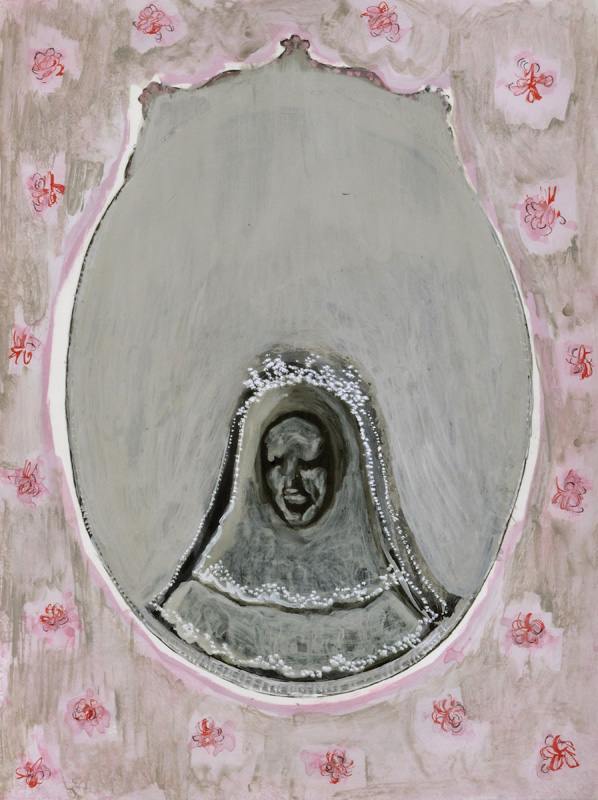 """A Mirror Has Two Faces"" (series) paintings on paper 2009-2013 ""Bride"""