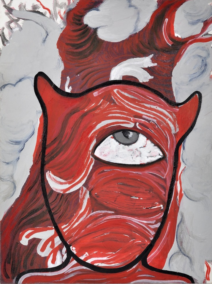 """A Mirror Has Two Faces"" (series) paintings on paper 2009-2013 ""Beast"""