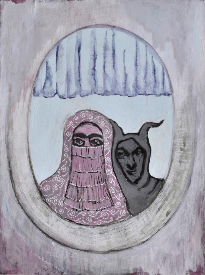 """""""A Mirror Has Two Faces"""" paintings on paper 2009-2013 """"Under The Curtain"""""""