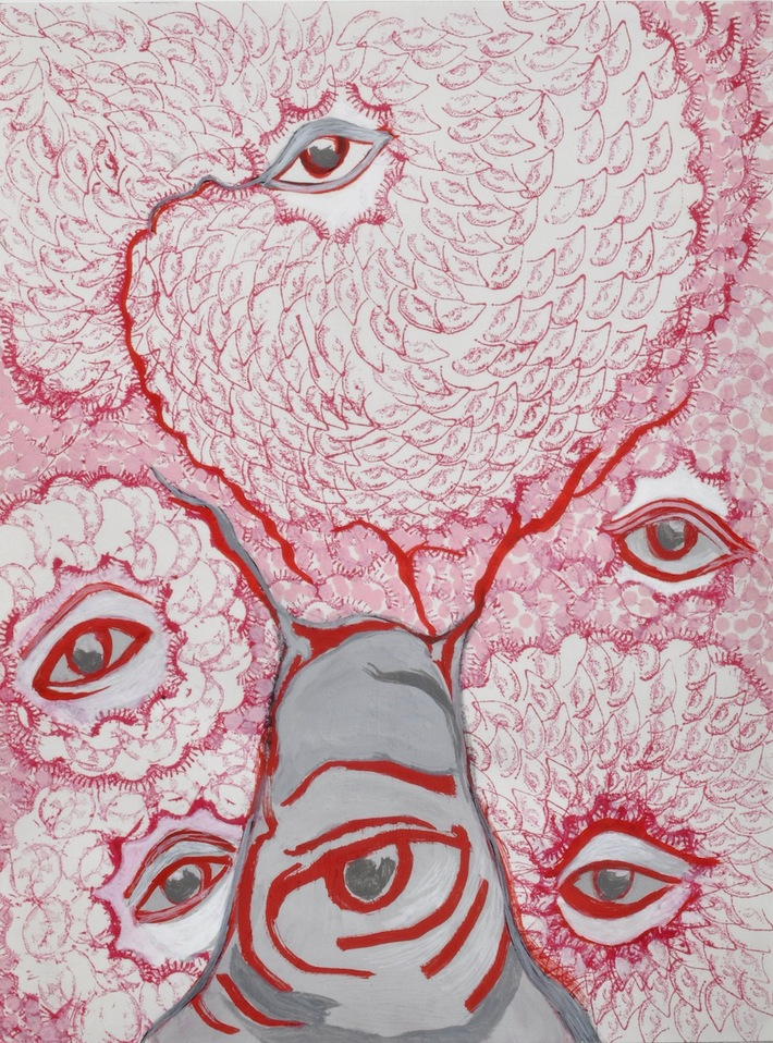 """A Mirror Has Two Faces"" paintings on paper 2009-2013 Eye See"