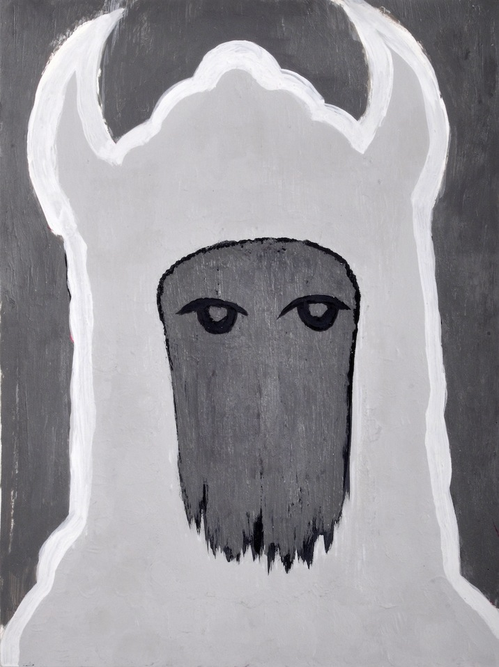 """A Mirror Has Two Faces"" (series) paintings on paper 2009-2013 Sheep Mask"