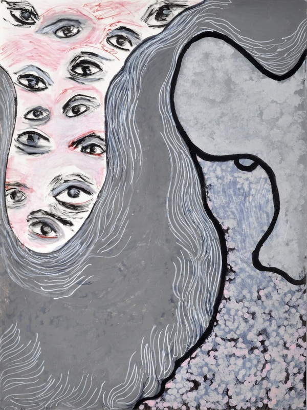 """A Mirror Has Two Faces"" paintings on paper 2009-2013 ink, acrylic, oil, watercolor and marker on paper"