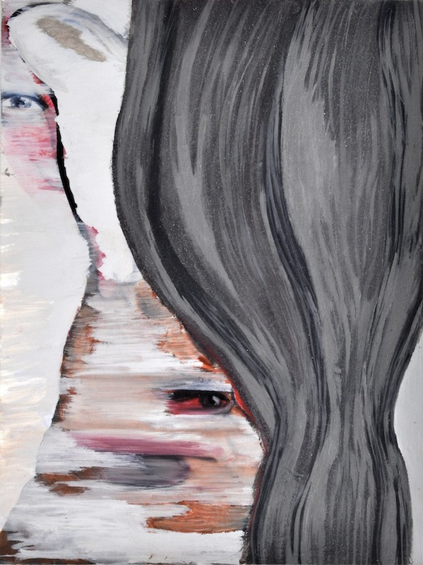 """A Mirror Has Two Faces"" (series) paintings on paper 2009-2013 acrylic, watercolor and marker on paper"